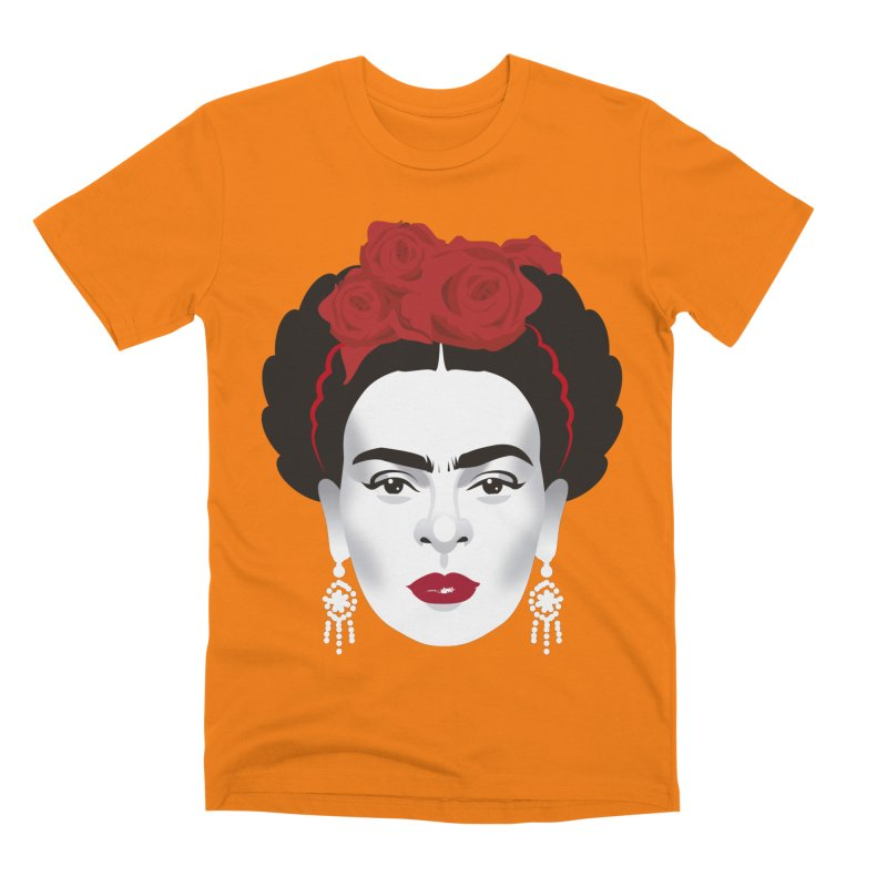 Red Frida Men's Premium T-Shirt by Ale Mogolloart's Artist Shop