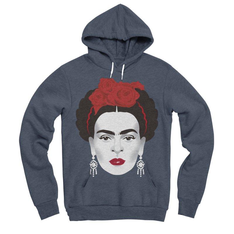Red Frida Women's Sponge Fleece Pullover Hoody by Ale Mogolloart's Artist Shop