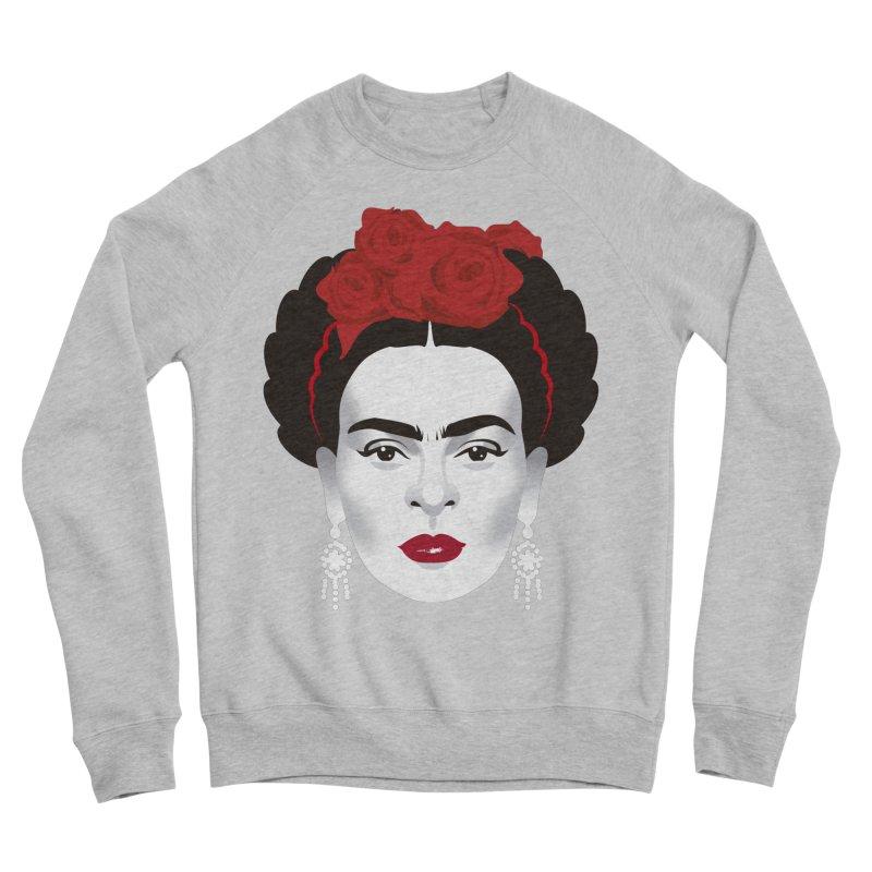 Red Frida Women's Sponge Fleece Sweatshirt by Ale Mogolloart's Artist Shop
