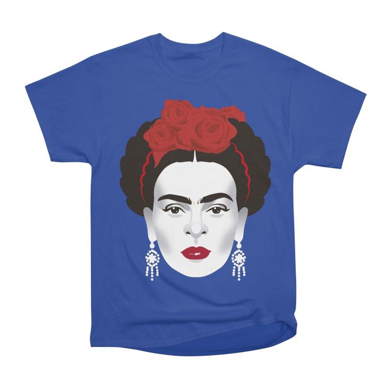 Red Frida Women's Heavyweight Unisex T-Shirt by Ale Mogolloart's Artist Shop