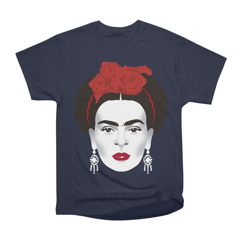 Red Frida Men's Heavyweight T-Shirt by Ale Mogolloart's Artist Shop