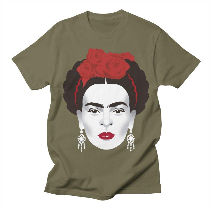 Red Frida Women's Regular Unisex T-Shirt by Ale Mogolloart's Artist Shop