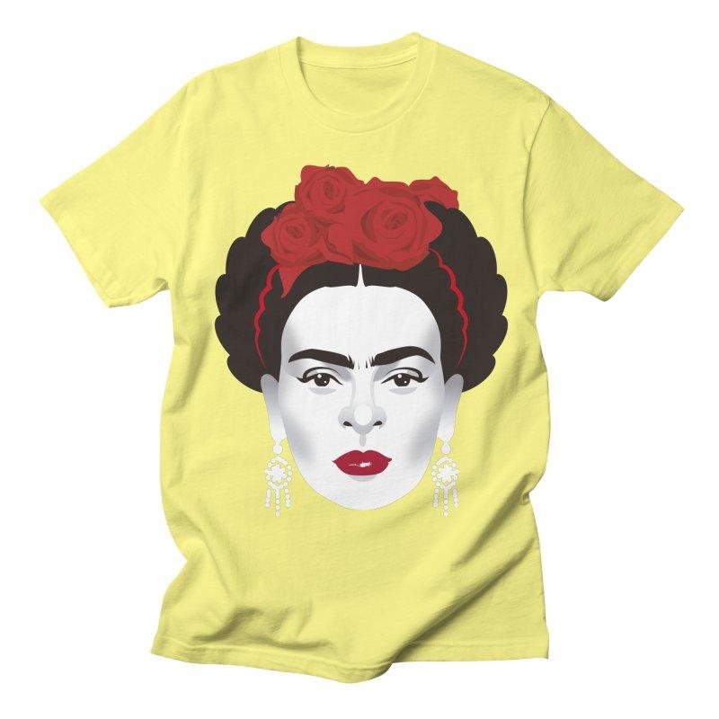 Red Frida Men's Regular T-Shirt by Ale Mogolloart's Artist Shop