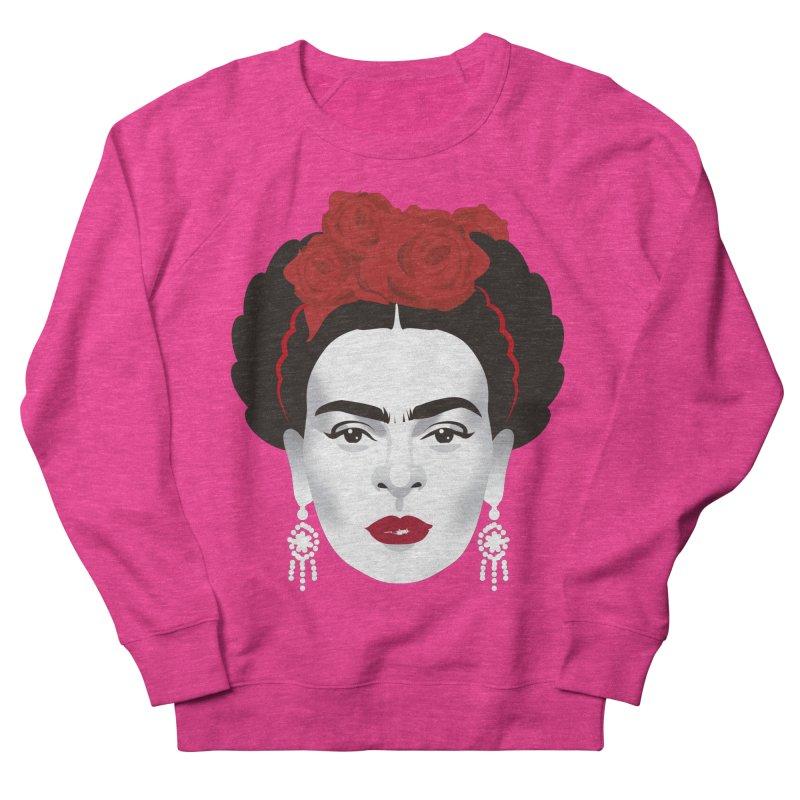 Red Frida Women's French Terry Sweatshirt by Ale Mogolloart's Artist Shop