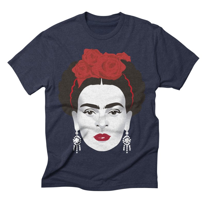 Red Frida Men's Triblend T-Shirt by Ale Mogolloart's Artist Shop