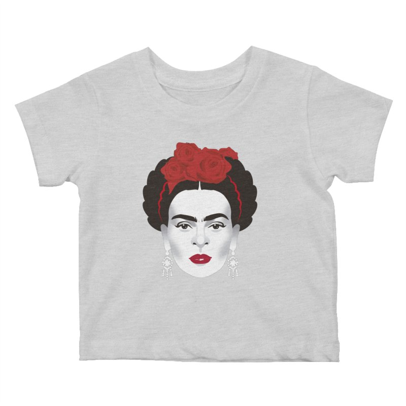 Red Frida Kids Baby T-Shirt by Ale Mogolloart's Artist Shop