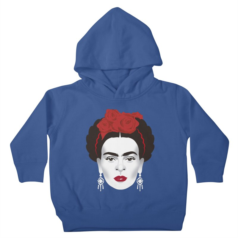Red Frida Kids Toddler Pullover Hoody by Ale Mogolloart's Artist Shop