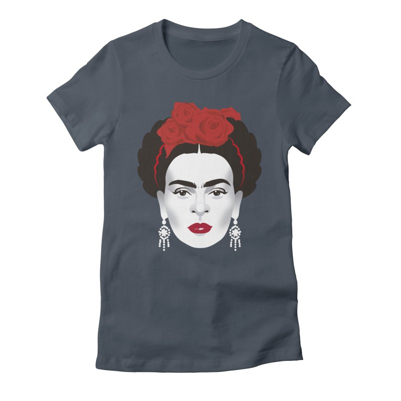 Red Frida Women's Fitted T-Shirt by Ale Mogolloart's Artist Shop