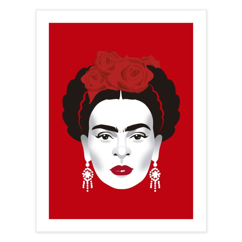 Red Frida Home Fine Art Print by Ale Mogolloart's Artist Shop