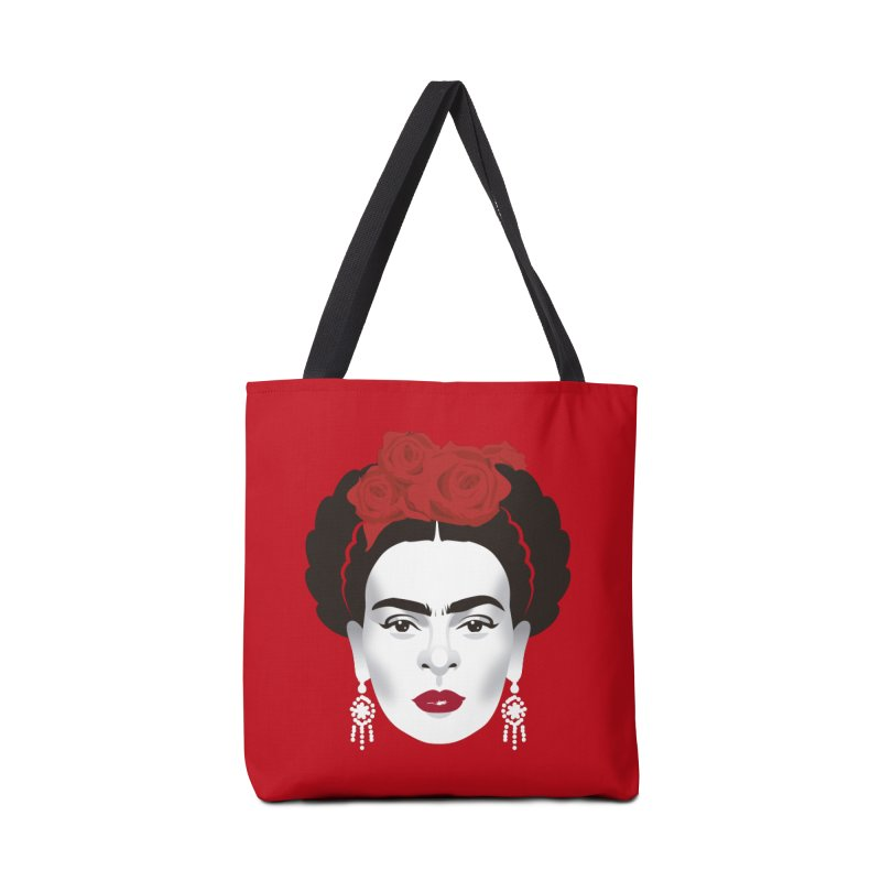 Red Frida Accessories Tote Bag Bag by Ale Mogolloart's Artist Shop