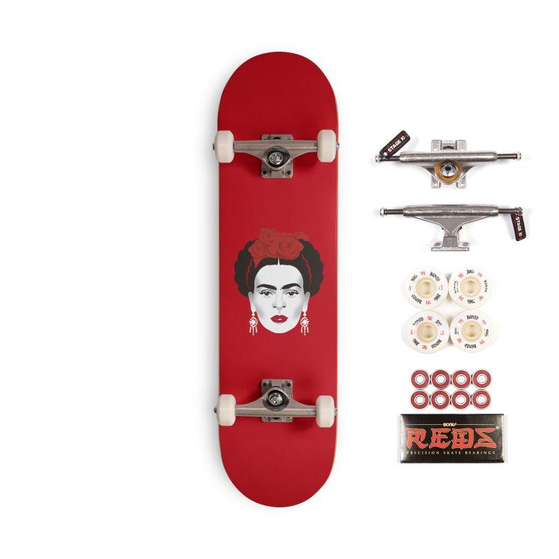 Red Frida Accessories Complete - Pro Skateboard by Ale Mogolloart's Artist Shop