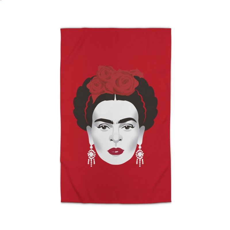Red Frida Home Rug by Ale Mogolloart's Artist Shop