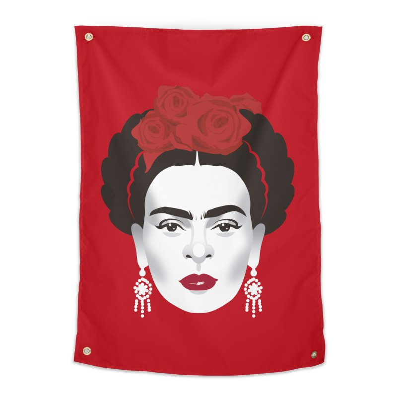 Red Frida Home Tapestry by Ale Mogolloart's Artist Shop