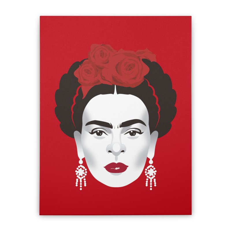 Red Frida Home Stretched Canvas by Ale Mogolloart's Artist Shop