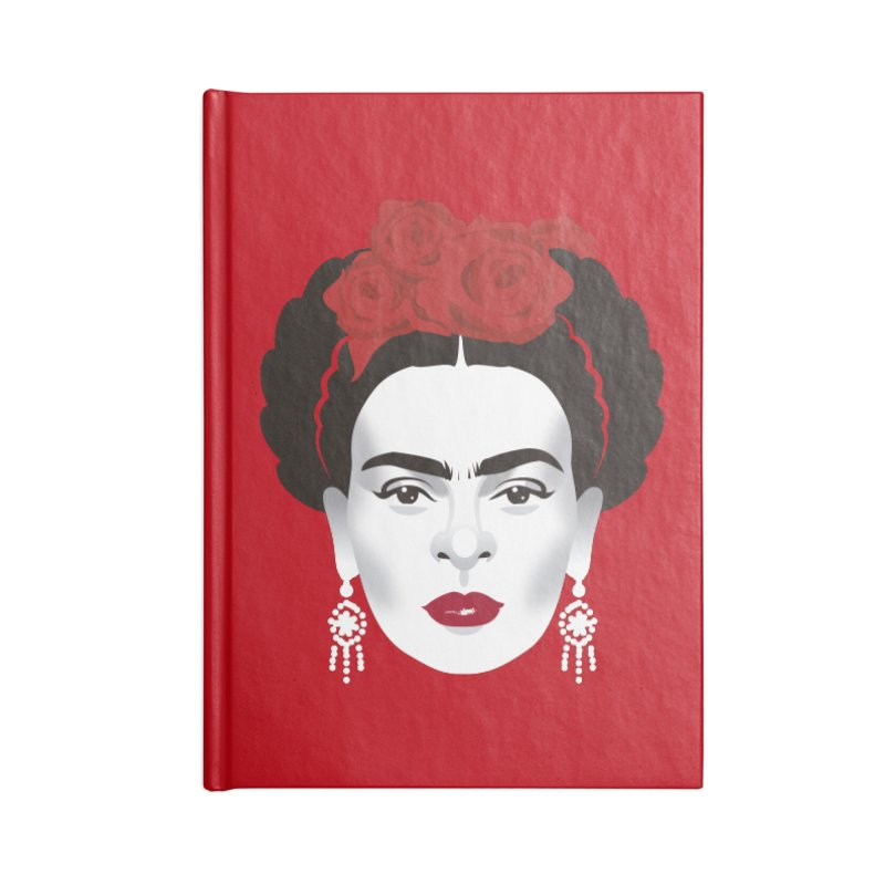 Red Frida Accessories Blank Journal Notebook by Ale Mogolloart's Artist Shop