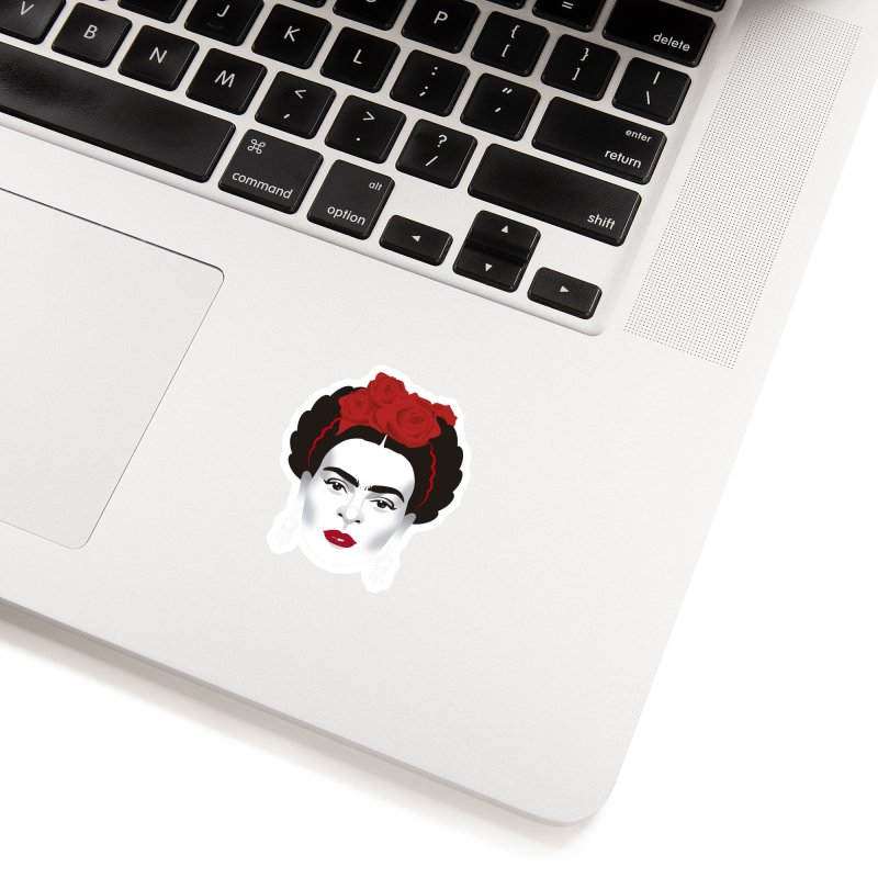 Red Frida Accessories Sticker by Ale Mogolloart's Artist Shop