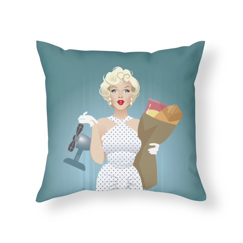 The girl! Home Throw Pillow by Ale Mogolloart's Artist Shop