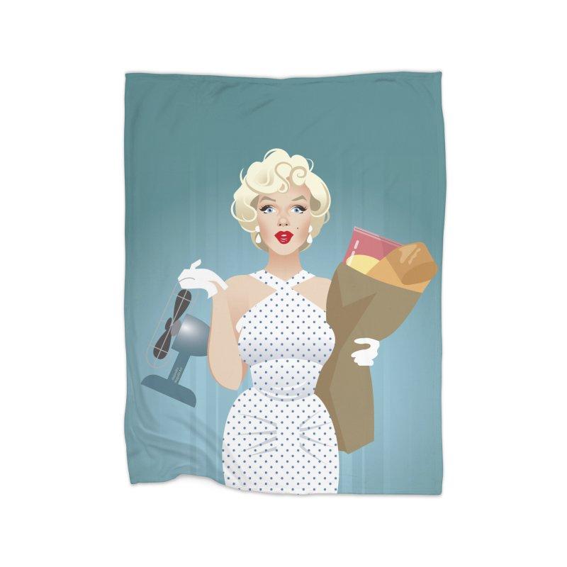 The girl! Home Fleece Blanket Blanket by Ale Mogolloart's Artist Shop