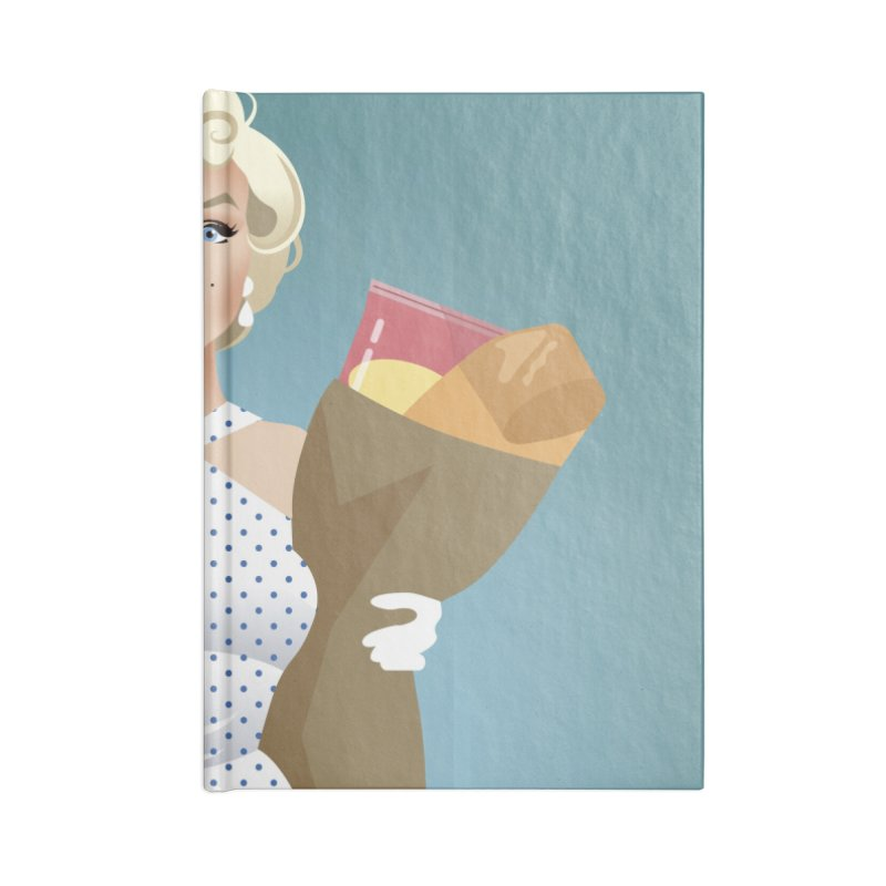 The girl! Accessories Blank Journal Notebook by Ale Mogolloart's Artist Shop