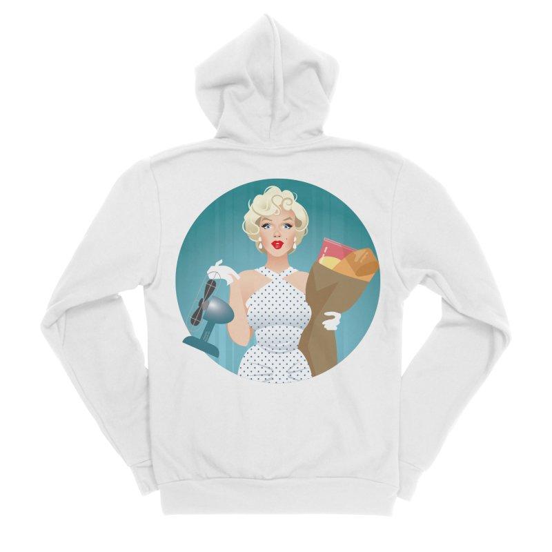 The girl! Women's Sponge Fleece Zip-Up Hoody by Ale Mogolloart's Artist Shop
