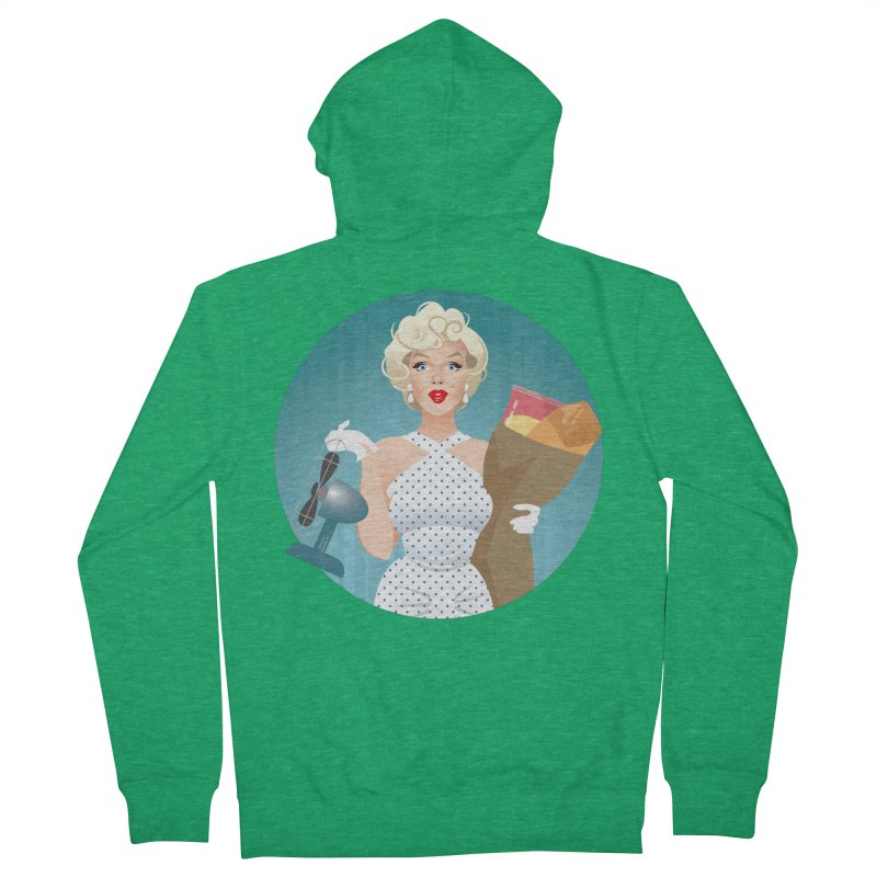The girl! Women's French Terry Zip-Up Hoody by Ale Mogolloart's Artist Shop