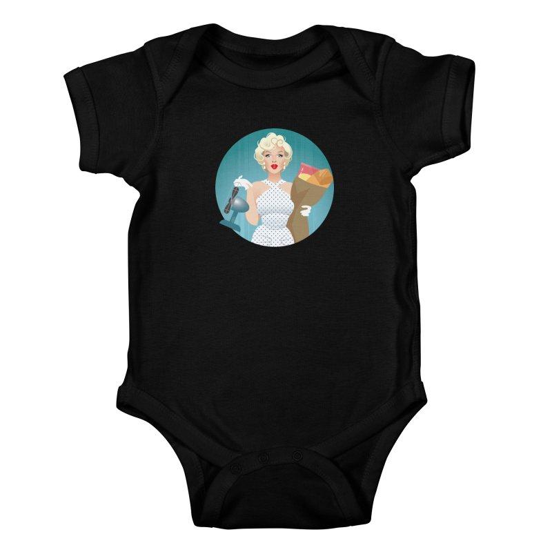 The girl! Kids Baby Bodysuit by Ale Mogolloart's Artist Shop