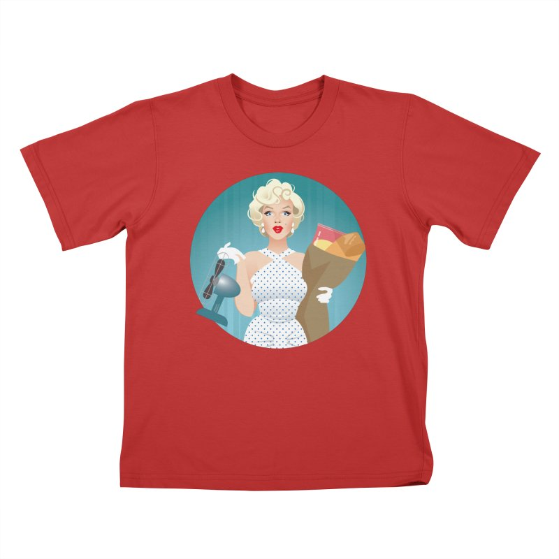 The girl! Kids T-Shirt by Ale Mogolloart's Artist Shop