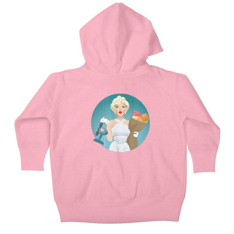The girl! Kids Baby Zip-Up Hoody by Ale Mogolloart's Artist Shop