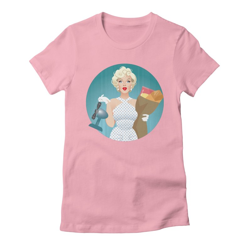 The girl! Women's Fitted T-Shirt by Ale Mogolloart's Artist Shop