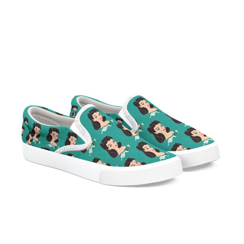 Princess Scarlett Women's Slip-On Shoes by Ale Mogolloart's Artist Shop