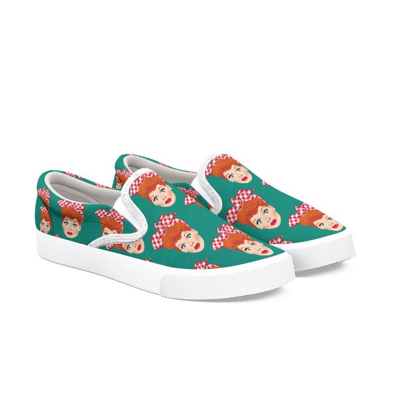 Lucy Women's Slip-On Shoes by Ale Mogolloart's Artist Shop