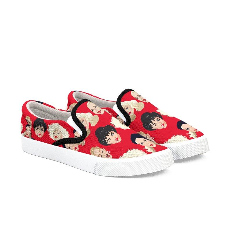 Madge Men's Slip-On Shoes by Ale Mogolloart's Artist Shop