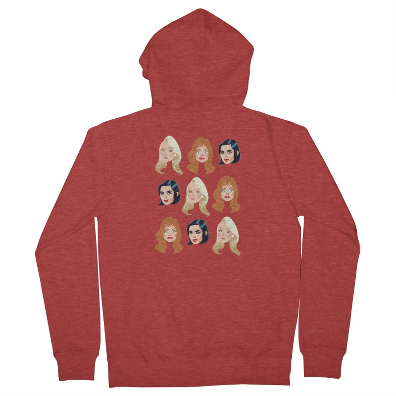 Death becomes her Women's French Terry Zip-Up Hoody by Ale Mogolloart's Artist Shop