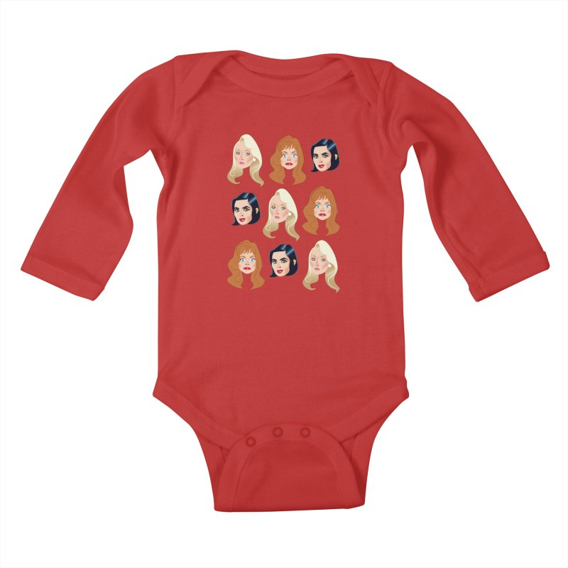 Death becomes her Kids Baby Longsleeve Bodysuit by Ale Mogolloart's Artist Shop
