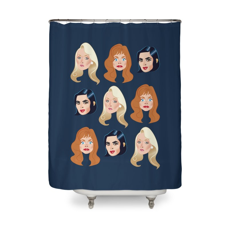Death becomes her Home Shower Curtain by Ale Mogolloart's Artist Shop