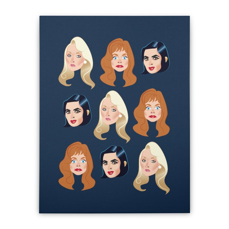 Death becomes her Home Stretched Canvas by Ale Mogolloart's Artist Shop