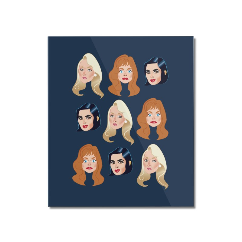 Death becomes her Home Mounted Acrylic Print by Ale Mogolloart's Artist Shop