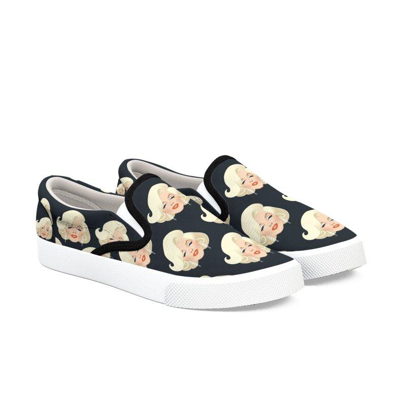 Happy birthday Men's Slip-On Shoes by Ale Mogolloart's Artist Shop