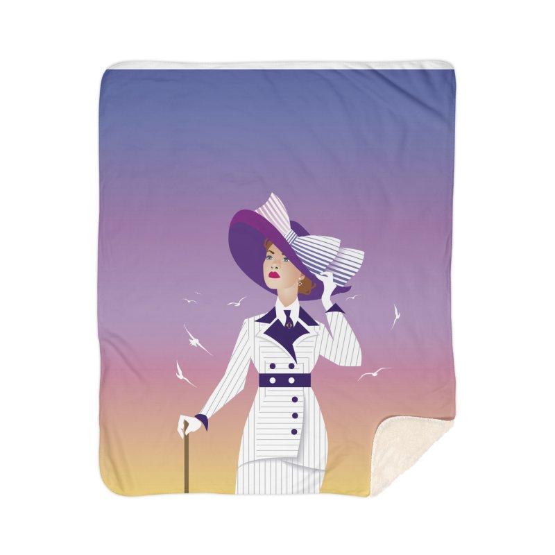 Rose Home Sherpa Blanket Blanket by Ale Mogolloart's Artist Shop