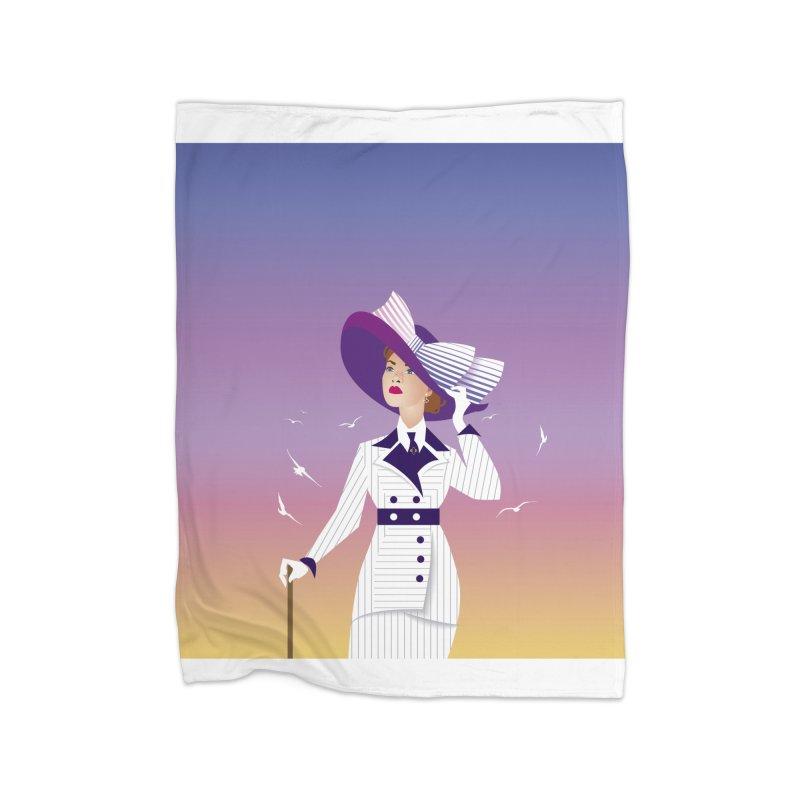 Rose Home Fleece Blanket Blanket by Ale Mogolloart's Artist Shop