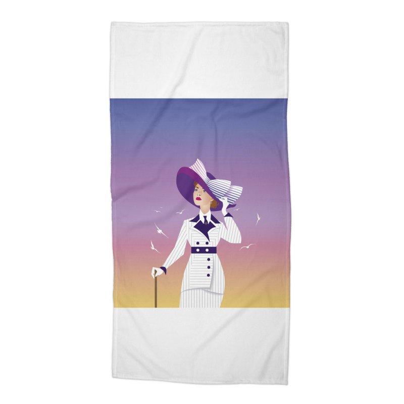 Rose Accessories Beach Towel by Ale Mogolloart's Artist Shop