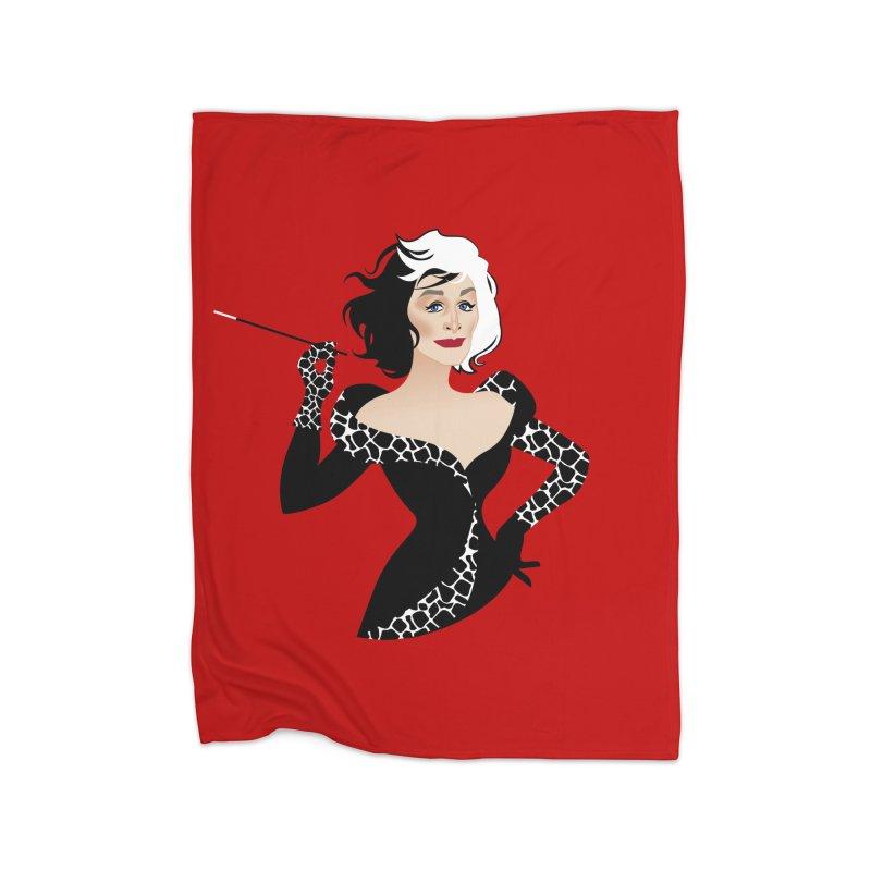 Cruella de Vil Home Fleece Blanket Blanket by Ale Mogolloart's Artist Shop