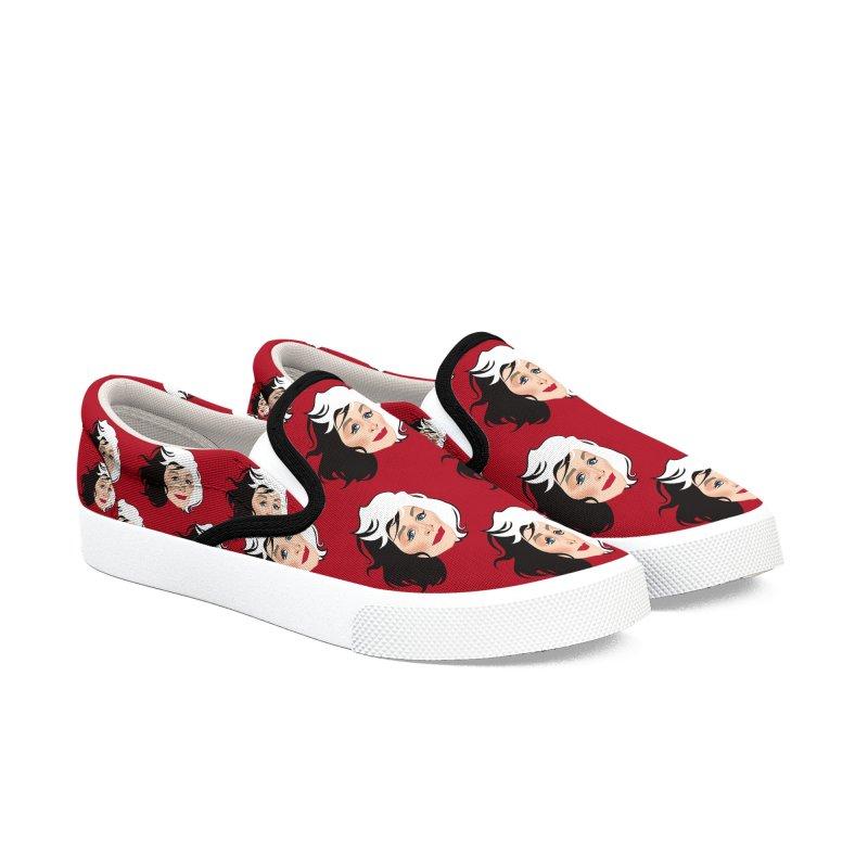 Cruella de Vil Men's Slip-On Shoes by Ale Mogolloart's Artist Shop