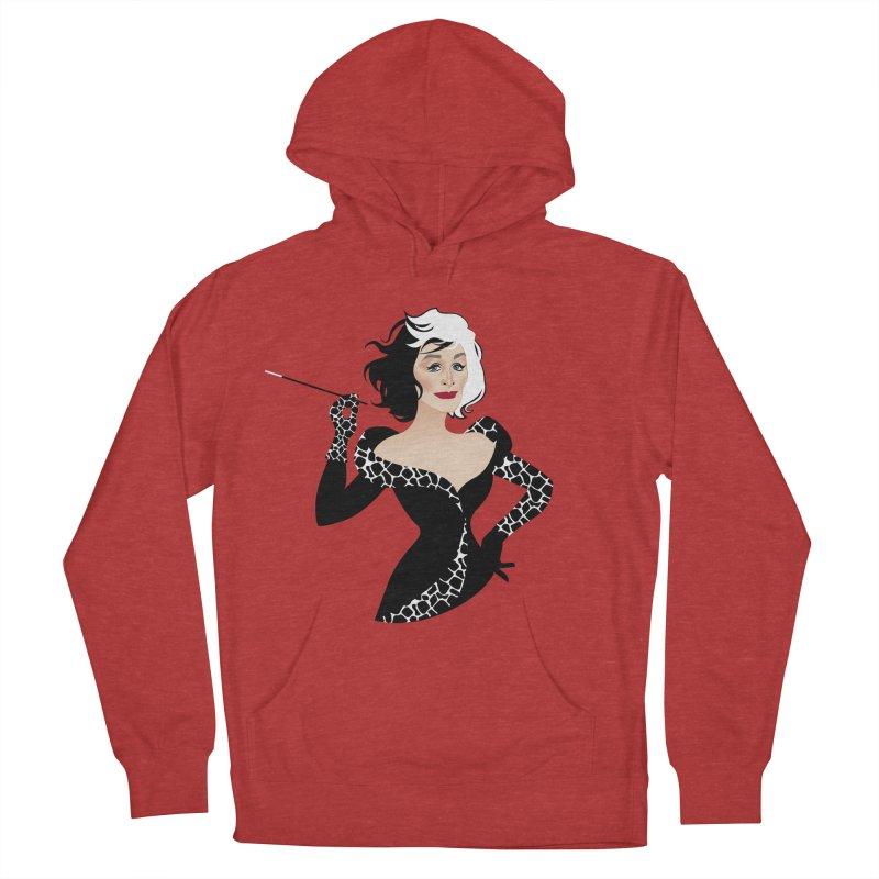 Cruella de Vil Women's French Terry Pullover Hoody by Ale Mogolloart's Artist Shop
