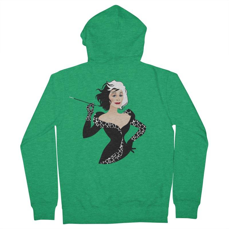 Cruella de Vil Women's French Terry Zip-Up Hoody by Ale Mogolloart's Artist Shop