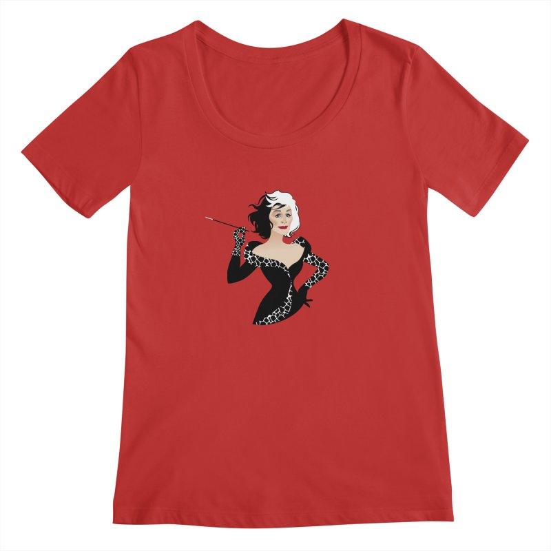 Cruella de Vil Women's Regular Scoop Neck by Ale Mogolloart's Artist Shop