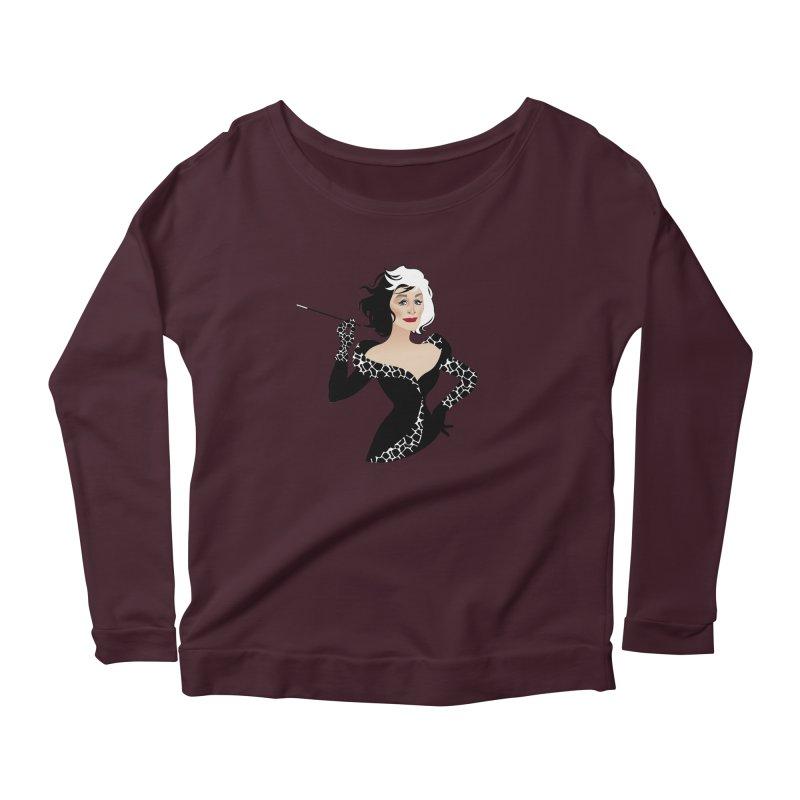 Cruella de Vil Women's Scoop Neck Longsleeve T-Shirt by Ale Mogolloart's Artist Shop