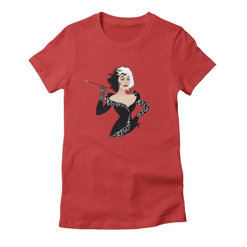 Cruella de Vil Women's Fitted T-Shirt by Ale Mogolloart's Artist Shop