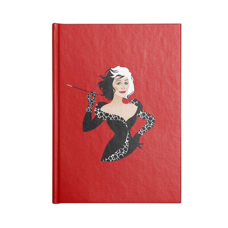Cruella de Vil Accessories Blank Journal Notebook by Ale Mogolloart's Artist Shop