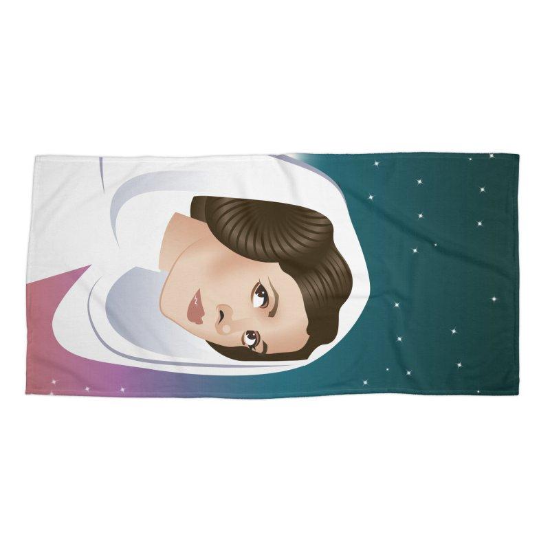 Carrie Accessories Beach Towel by Ale Mogolloart's Artist Shop